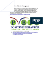 overview of positive behavior management