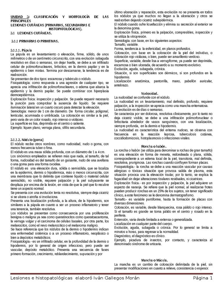 5. Lesiones Primarias Secundarias HC Pruebas de Laboratorio ...