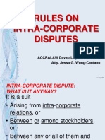 RULES ON INTRACORPORATE DISPUTES