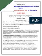 MU0016-Performance Management and Appraisal