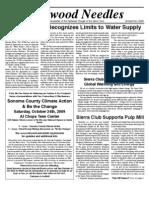 Redwood Needles Newsletter, October 2009 ~ Sierra Club, Redwood Chapter