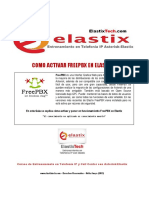 Como Activar FreePBX en Elastix