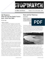 Stopwatch, December 2003 ~ Center for Ethics and Toxics