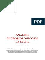 ANALISIS MICROBIOLOGICO DE LECHE