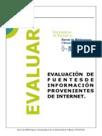 Evaluación de Fuentes de Internet