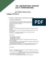 Informe de Laboratorio Sensor de Luz y Temperatura_02
