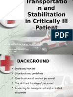 ! Transportation and Stabilitation in Critically Ill Patient - Mei 11