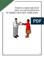 Resumes for Undergraduates