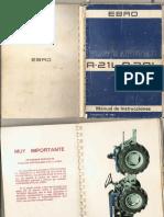 Manual de Usuario, tractor articulado EBRO A1L Y A30L
