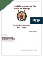 Tecnicas de Investigacion. 2015