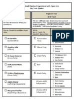 MMP Ballot With Open Lists PDF