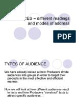 Audiences Understanding