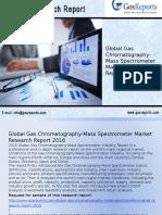 Global Gas Chromatography-Mass Spectrometer Market