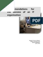 Success factors for IT organizations