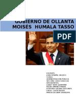 Ollanta Humala Gobierno en Adm Publica Monografia
