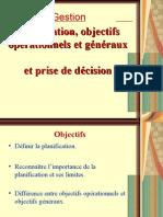 Gestion 2 Planification Objectifs Et Prise de Decision)
