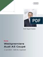 Weltpremiere Audi A5 Coupé
