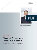 World Premiere Audi A5 Coupé