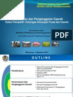 Kuliah Umum ToT Perencanaan Dan Penganggaran Daerah - Direktur PK