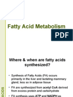 Fatty Acid Metabolism - Synthesis Lecture for 2nd year MBBS by Dr. Sadia Haroon