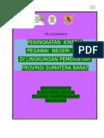 Peningkatan Kinerja PNS Dilingkungan Pemerintah Provinsi Sumatera Barat