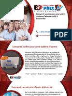 Comparer 3 Prix Système d'Alarme à Montréal