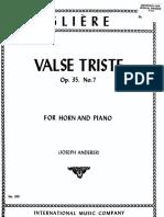 Gliere.R. Valse Tirste.op.35.No7