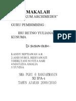 MAKALAH ARCHIMEDES
