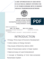 Modeling and Optimization of Grid Inter-connected Electrical Energy Systems for fulfillment of power demand with economic cost through transmission network.