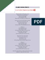 Eline Dion Lyrics