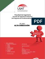 Sílabo Alta Direccion 2016