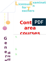 Content Area Courses