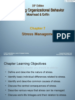 Managing organizational behaviour - Stress Management