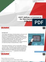 DGFT Defines ECommerce for Merchandise Export India Scheme