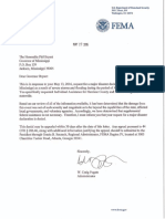 FEMA Letter - Denial Flood Assistance 20160428 Flood Event