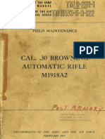 (1957) TM 9-2111-1 Field Maintenance Cal. 30 Browning Automatic Rifle M1918A2