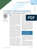 Revue Lamy Droit Civil_Force Juridique Africaine