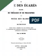 Le Guide des Égarés - Tome I
