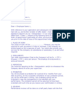 Appointment Letter FORMAT 1