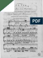Cavatina Del Maestro Rossini Cantada Por La Señora Lorenza Correa en La Ópera Los Pretendientes (1818)