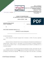 Lancaster County Court Case No. 08-CI-13373 Re PRAECIPE to ADD DEFENDANTS King Street Bars June 3, 2016