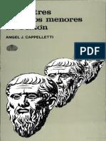 Angel Cappelletti Sobre Tres Diálogos Menores de Platón