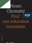 """""""Pour une éducation humaniste"""", Noam Chomsky"""