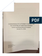 Commonwealth's Attorney's Report on LGH Shooting