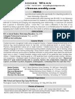 weanbrooke resume