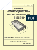 (1999) TM 10-8340-240-12&P Operator's and Unit Maintenance Manual for Modular General Purpose Tent System