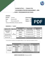 Horario y Programacion de Costos_VIII BPM