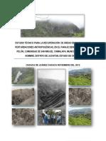 Cf4. Estudio Para Recuperar Áreas Degradadas en Cerro Pelon