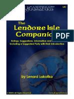 DnD ADD L4C the Lendore Isle Companion