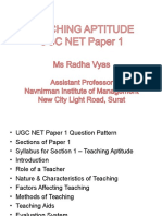 Teaching Aptitude
